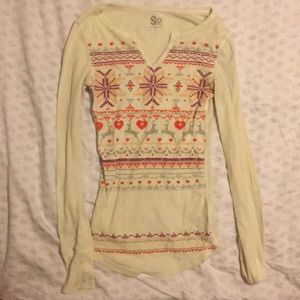 SO Knit long sleeved Henley